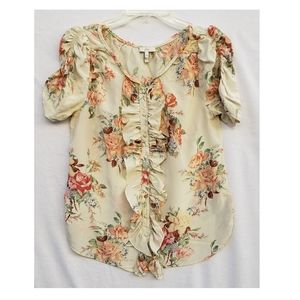 JOIE Floral Button Up Blouse